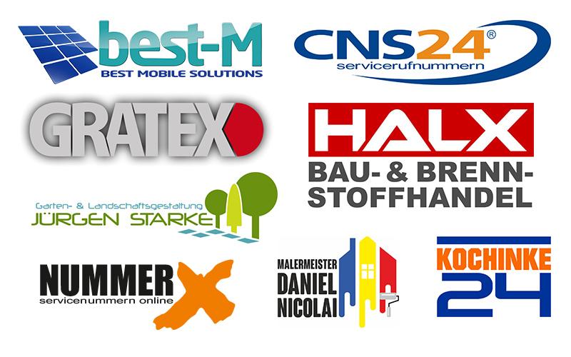 Gestaltung von Logos und Geschäftsdrucksachen
