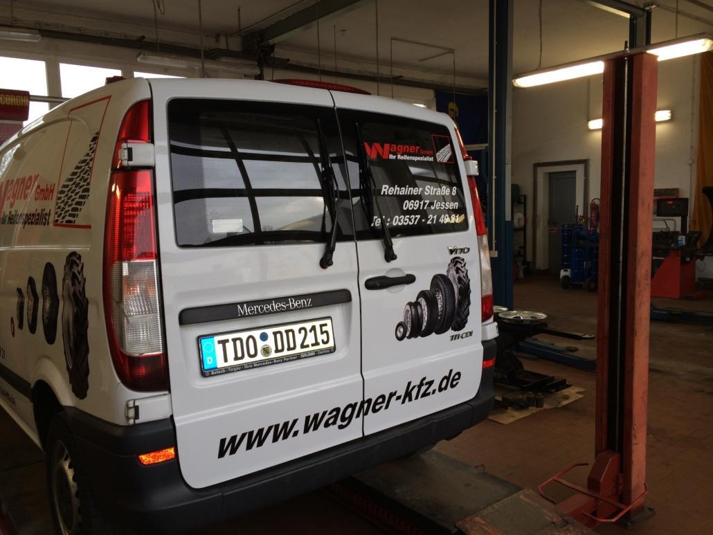 Kfz-Beschriftung Reifen Wagner Zinna von Werbung&Events Maik Blume Belgern