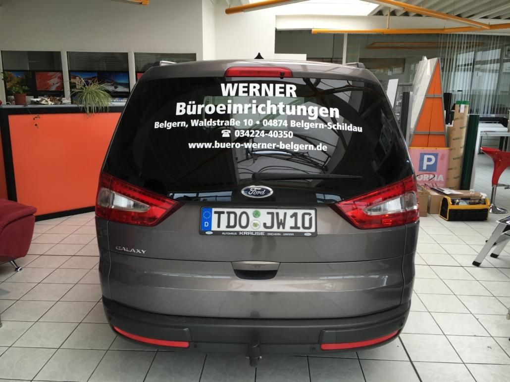 Kfz-Beschriftung Büro Werner Belgern von Werbung&Events Maik Blume Belgern